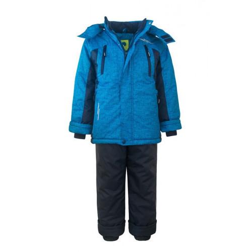 """Зимний костюм UKI kids """"ШТОРМ"""" бирюзовый принт"""