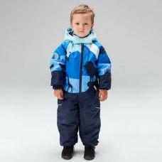 Демисезонный комбинезон UKI kids ЛЕВ голубой/синий принт
