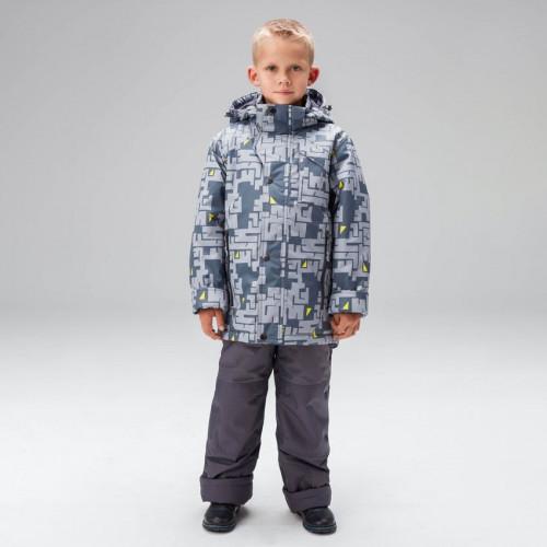 Демисезонный костюм для мальчика UKI kids СХЕМЫ серый