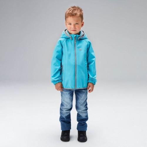Куртка из Softshell для мальчика и девочки UKI kids ШАЛУНЫ бирюзовый