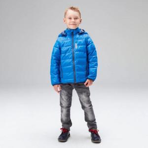 Куртка-жилетка для мальчика и девочки UKI kids ярко-голубая