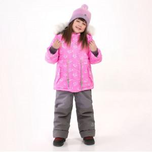 "Зимний костюм для девочки UKI kids ""Царевна"" неоновый принт"