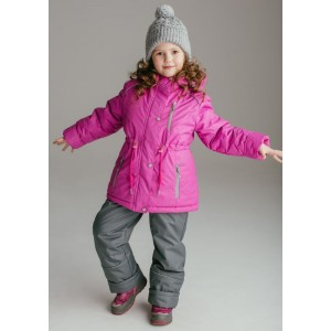 "Зимний костюм UKI kids ""Грёзы"" розовый принт"